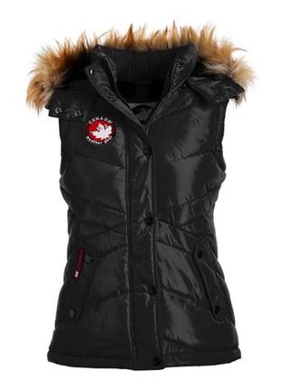 Зимняя тёплая жилетка безрукавка canada weather gear