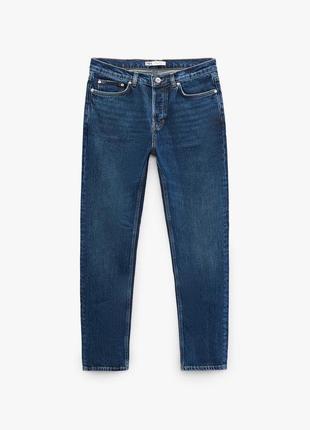 Мужские джинсы zara 42р. (коштували 1500грн) прямые скини/джинси темно-сині скіні/прямі