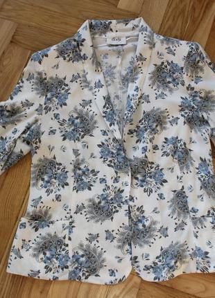 Пиджак летний с цветами