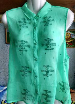 Шифоновая блузка hollister,размер s