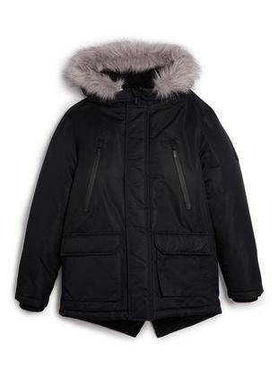 Тёплая утеплённая парка куртка с мехом евро зима