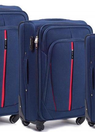 Комплект  чемоданов wings 1706 на 4 колесах 3 в 1 (l, m, s)