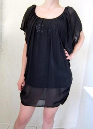 Шифоновое платье - туника   поетки,  от vera mont