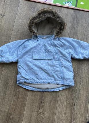 Куртка h&m 9-12мес