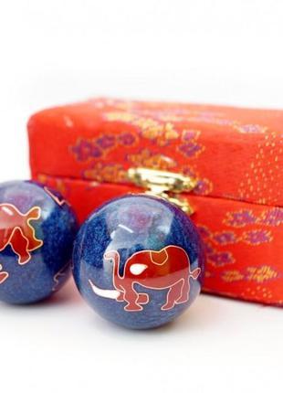 9290016 массажные шары баодинга пара эмаль слоник