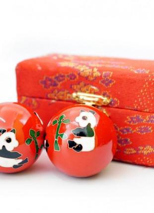 9290016 массажные шары баодинга пара эмаль панды
