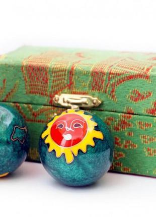 9290015 массажные шары баодинга пара эмаль солнце луна