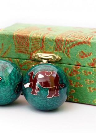 9290015 массажные шары баодинга пара эмаль слоник