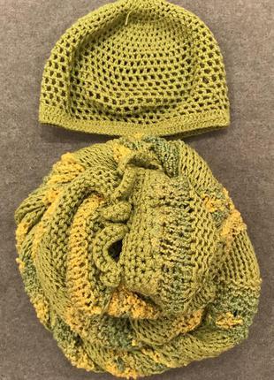 Шарф (oversize) и шапка. hand made