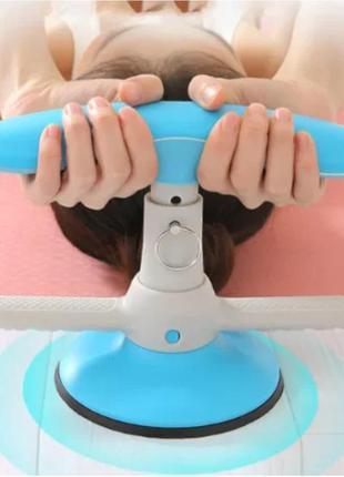 Тренажер-присоска на пол для фиксации ног для пресса sit-up aid голубой