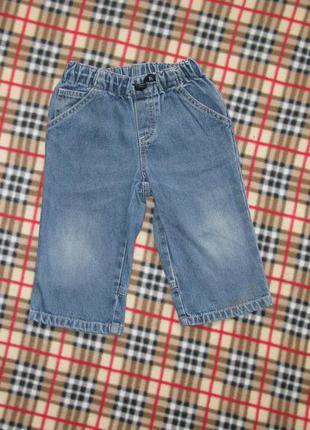 Джинсы * джинсовые штанишки на 12 мес.