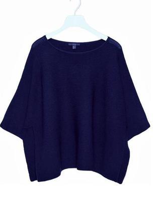 Шертяной свитер оверсайз пончо