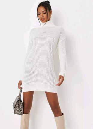 Шикарное вязанное платье