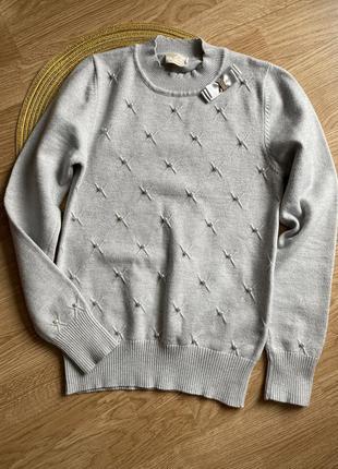 Шкільний трикотажний светр на 10-11 років, школьный свитер