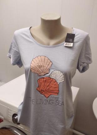 Новая натуральная стрейч футболка esmara