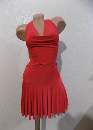Платье красное трикотаж масло размер 44