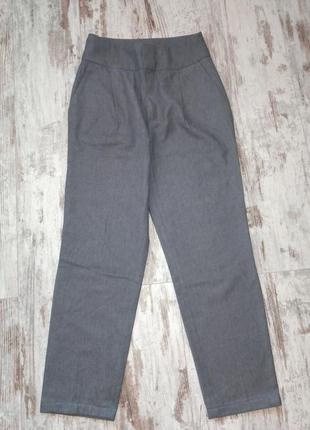 Брюки штаны классические серые деловые massimo dutti