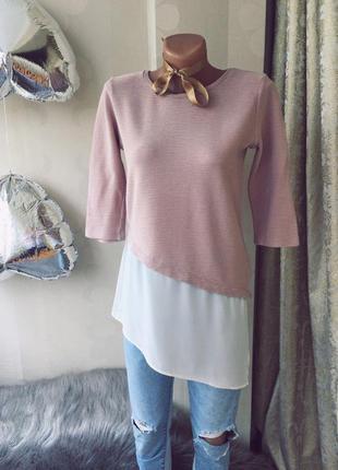Модная нежно-розовая кофточка stradivarius