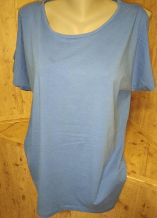 Новая натуральная футболка стрейч, esmara, p.18-20