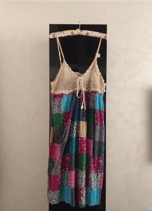 Легкое пляжное платье большой размер