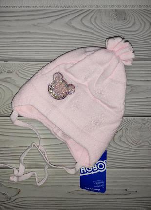 Шапка нежно розовая осенняя agbo
