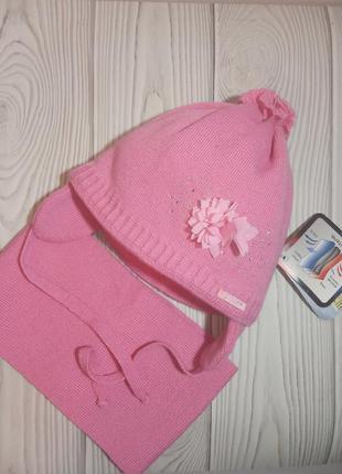 Шапка шарф зимний комплект набор для малышки