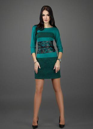 Стильное красивое  приталенное осенние весенние  платье
