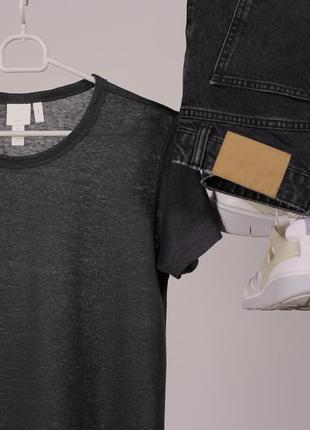 Лляна футболка h&m - літній sale