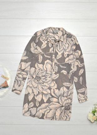 Красива подовжена блуза в квіти soon.