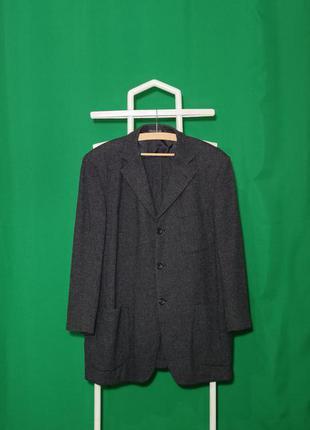 Винтажный шерстяной пиджак блейзер ermenegildo zegna