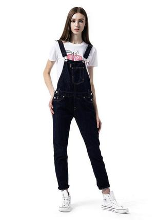 Шикарний комбенізон, комбинезон levi's original women's denim overalls dark blue