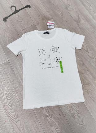 Женская натуральная хб белая футболка хлопковая из хлопка 100%