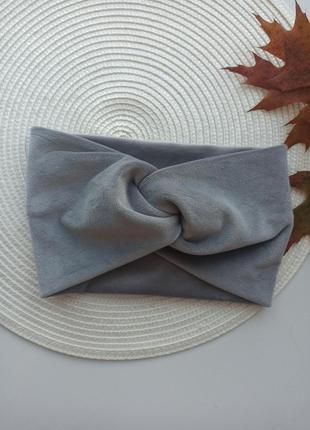 Плюшева повязка на голову велюрова повязки бархат