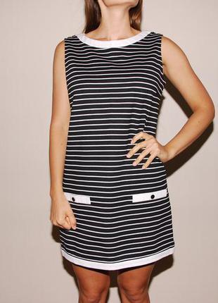 Плотное платье zara basic полосатое