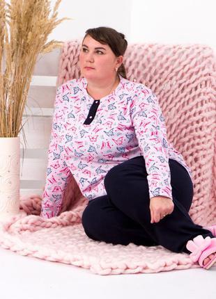 Пижама теплая женская батал
