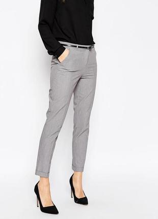 Обнова! брюки классика зауженные укороченные серые