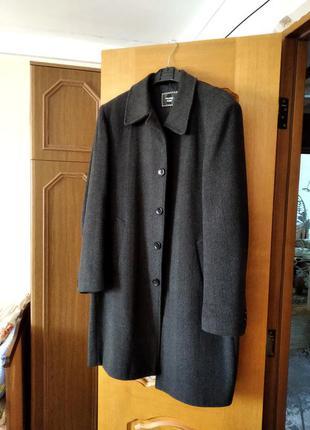 Пальто кашемірове, сіре, розмір l