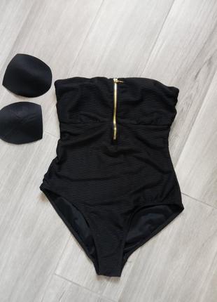 Купальник сдельный черный esmara xs-s