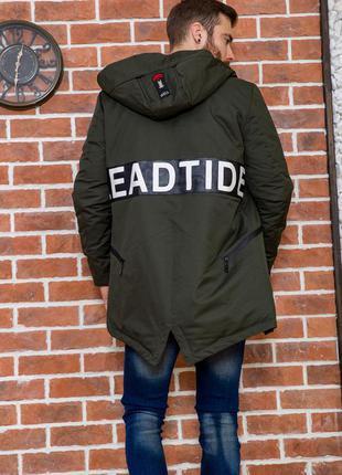 Куртка бомбезная для стильного мужчины тёплая удлинённый  - m l xl xxl