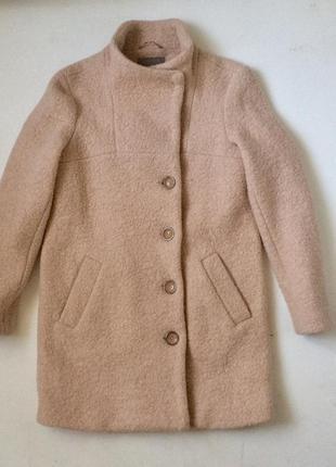 Фактурне шерстяне пальто