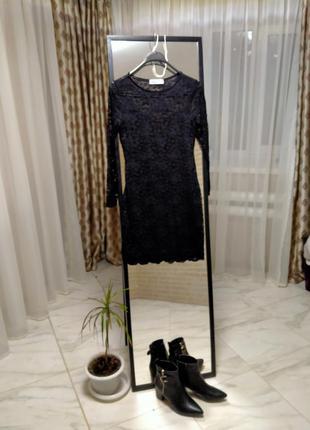 Платье, маленькое черное платье, платье в кружево, нарядное платье, вечернее платье