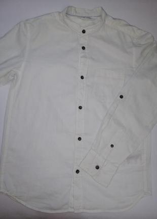 Рубашка, белая рубашка, рубашка воротник стоичка