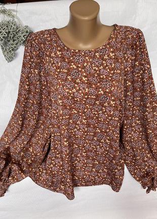 Роскошная блуза с широкими рукавами