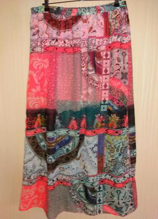 Яркая длинная юбка 50 размера