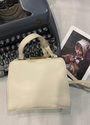 Кожаная винтажная сумочка