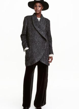Шерстяное пальто h&m studio р.34(160/80)