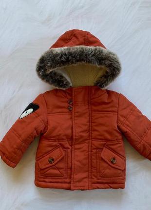 Nutmeg стильная деми  куртка на мальчика   3-6 мес