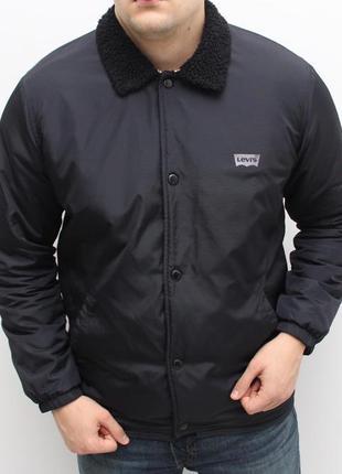 Утепленная оригинальная куртка шерпа на меху levi's