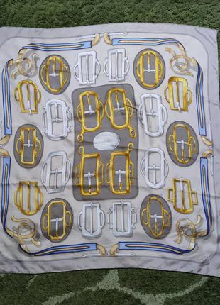 Оригинальный шелковый платок hermes paris bovclerie d'attelage