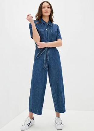 Крутой джинсовый комбинезон из денима gap.